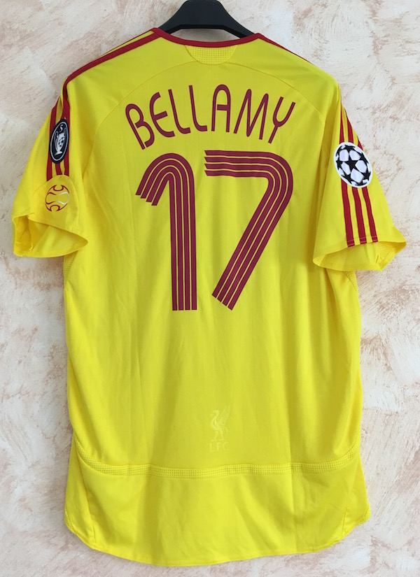 17f84713a Away yellow 2006-07 - n. 17 Bellamy - Issued for Champions League match vs.  PSV (12th of Sept. 2006)