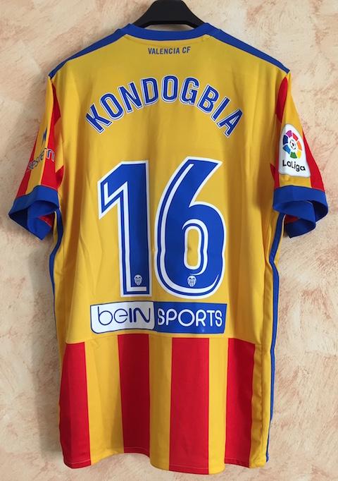 79efdd1f47a 2^ away stripes 2017-18 n. 16 Kondogbia - worn in Spanish League match vs.  Sevilla (0-2) - 10 March 2018